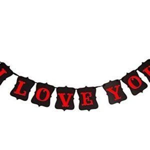 I Love You Banner - Wedding, Shower